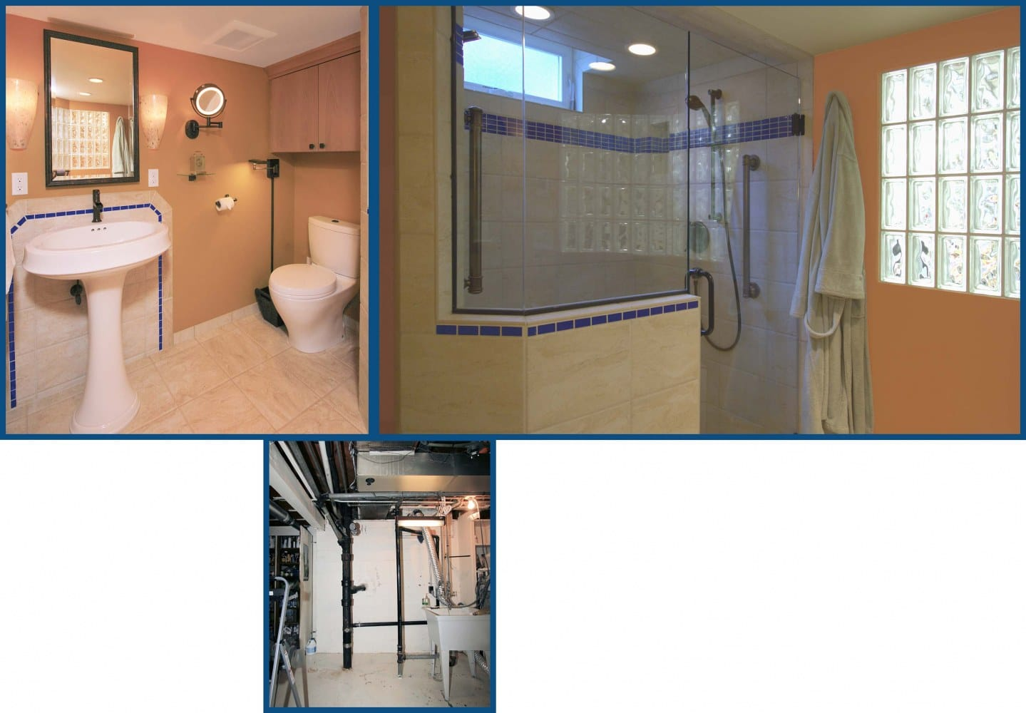 Portland Basement Bathroom Before and After