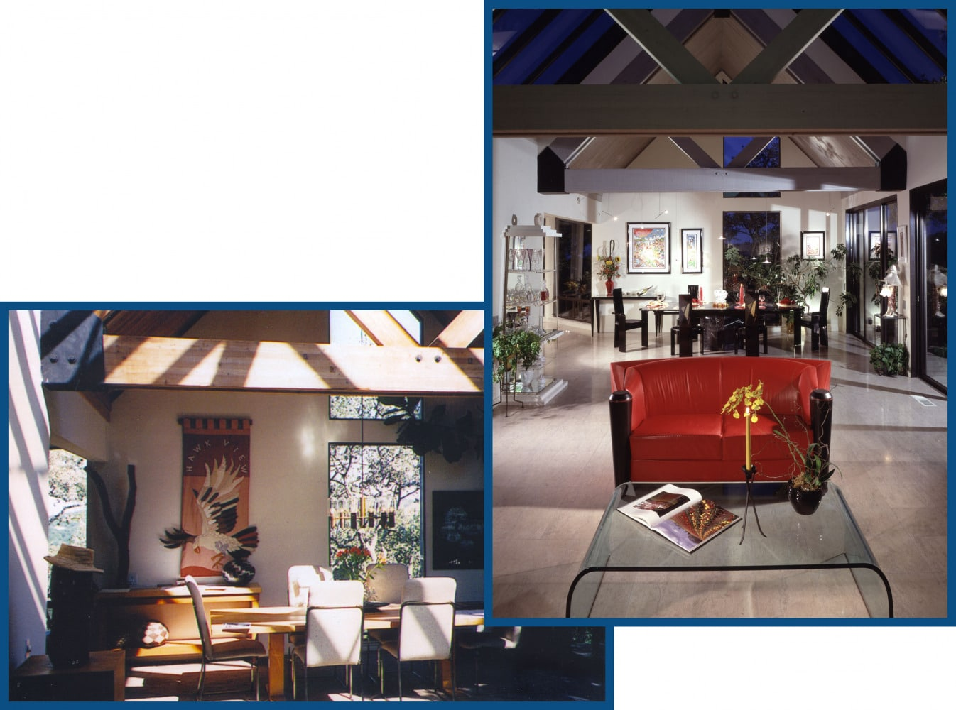 Portola Valley Living Room Dining Room