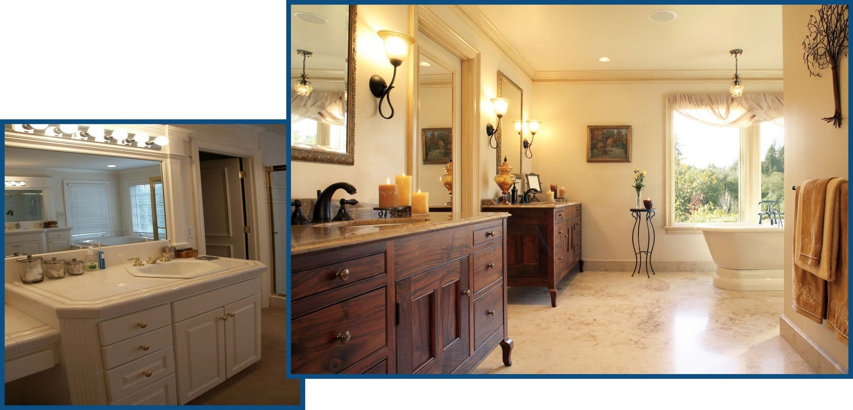 Tualatin Bathroom from Entry Before and After