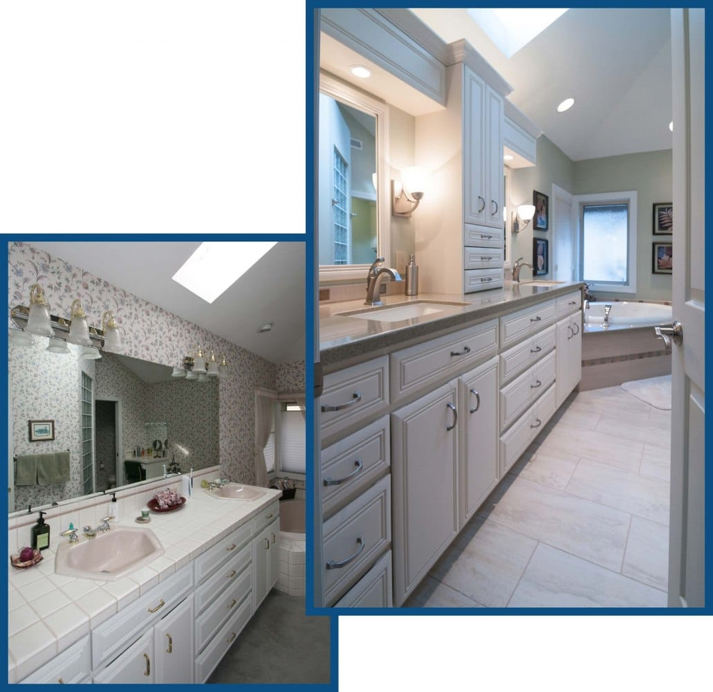 Vancouver Bathroom from Entry Redesign Before and After