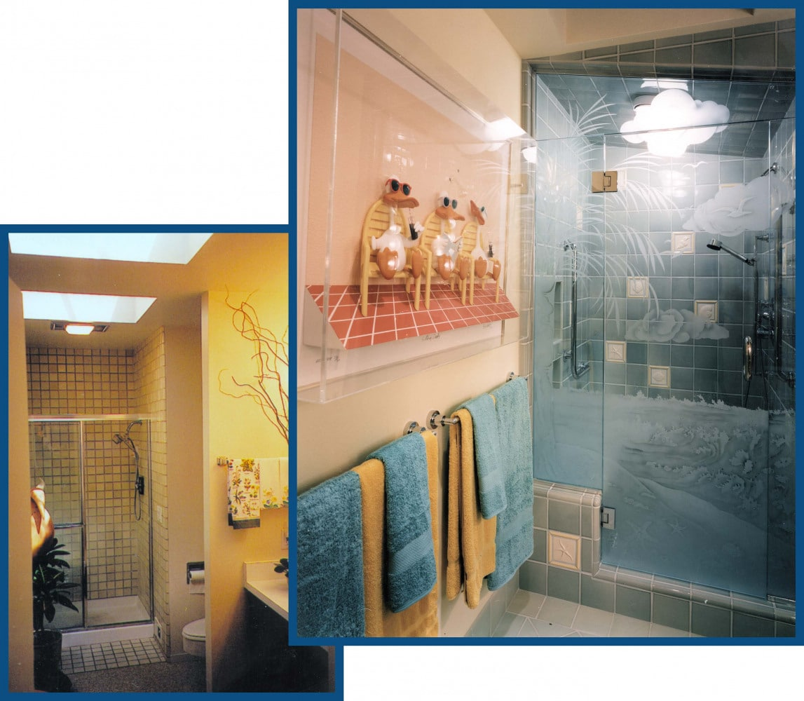 Portola Valley Shower Remodel Before and After