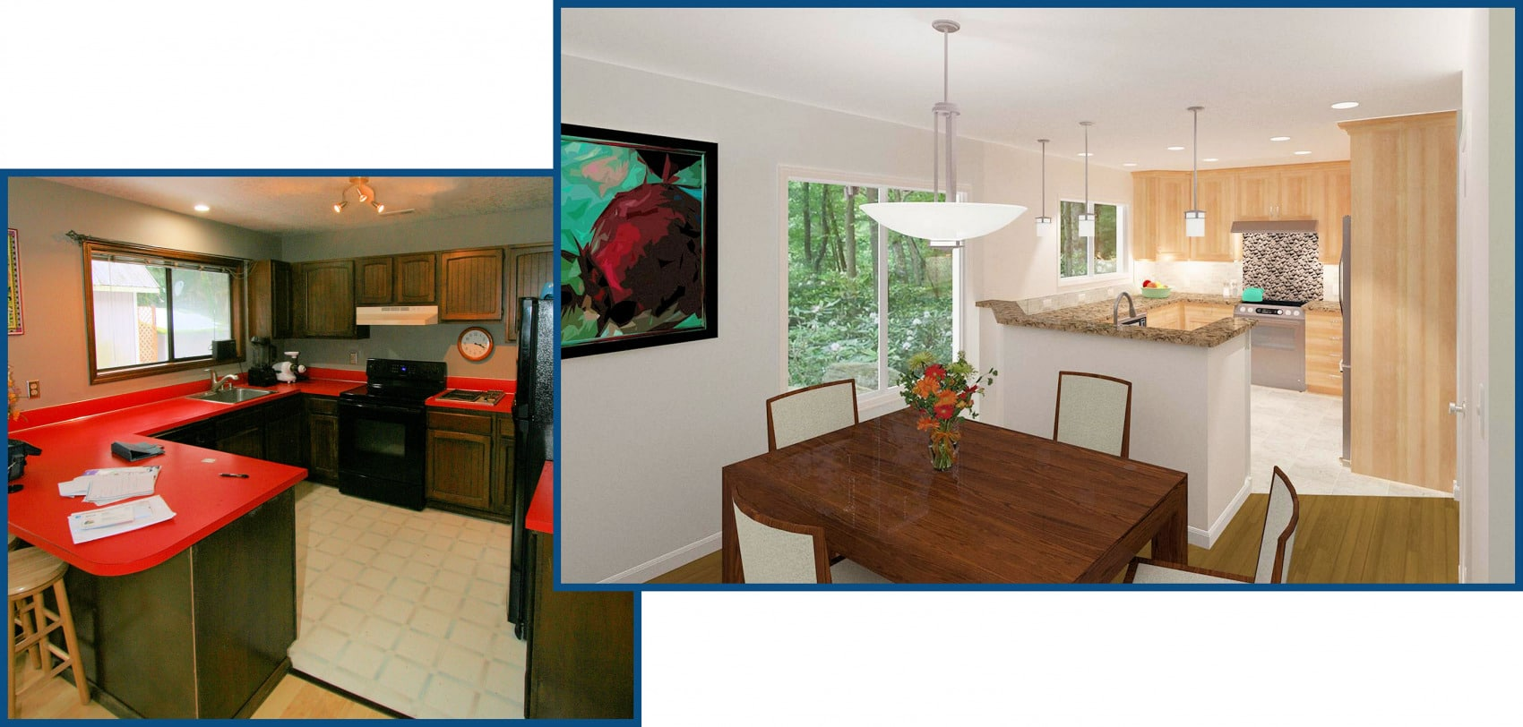 Brightwood Kitchen Remodel Before and After