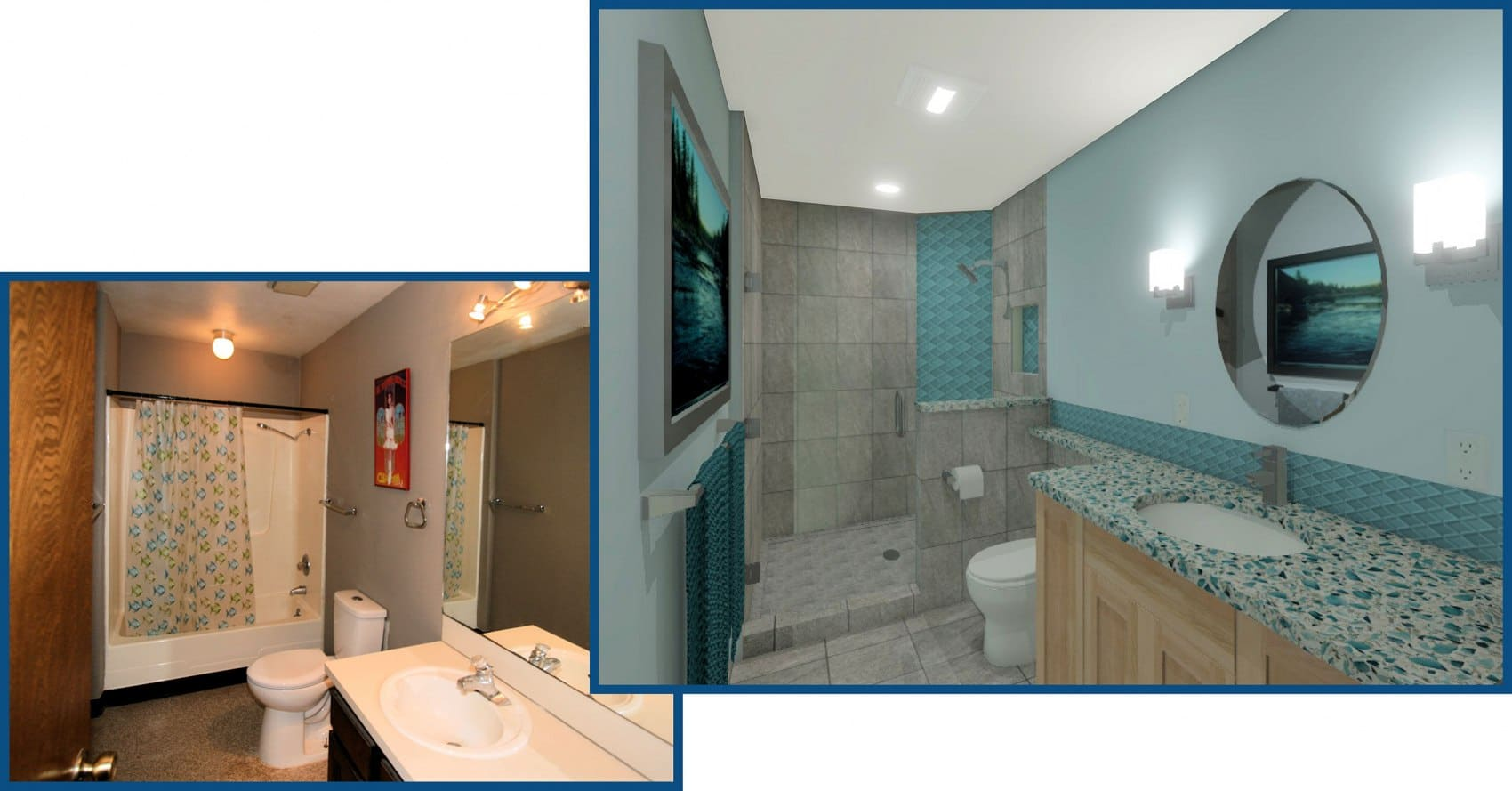 Brightwood Master Bathroom Before and After