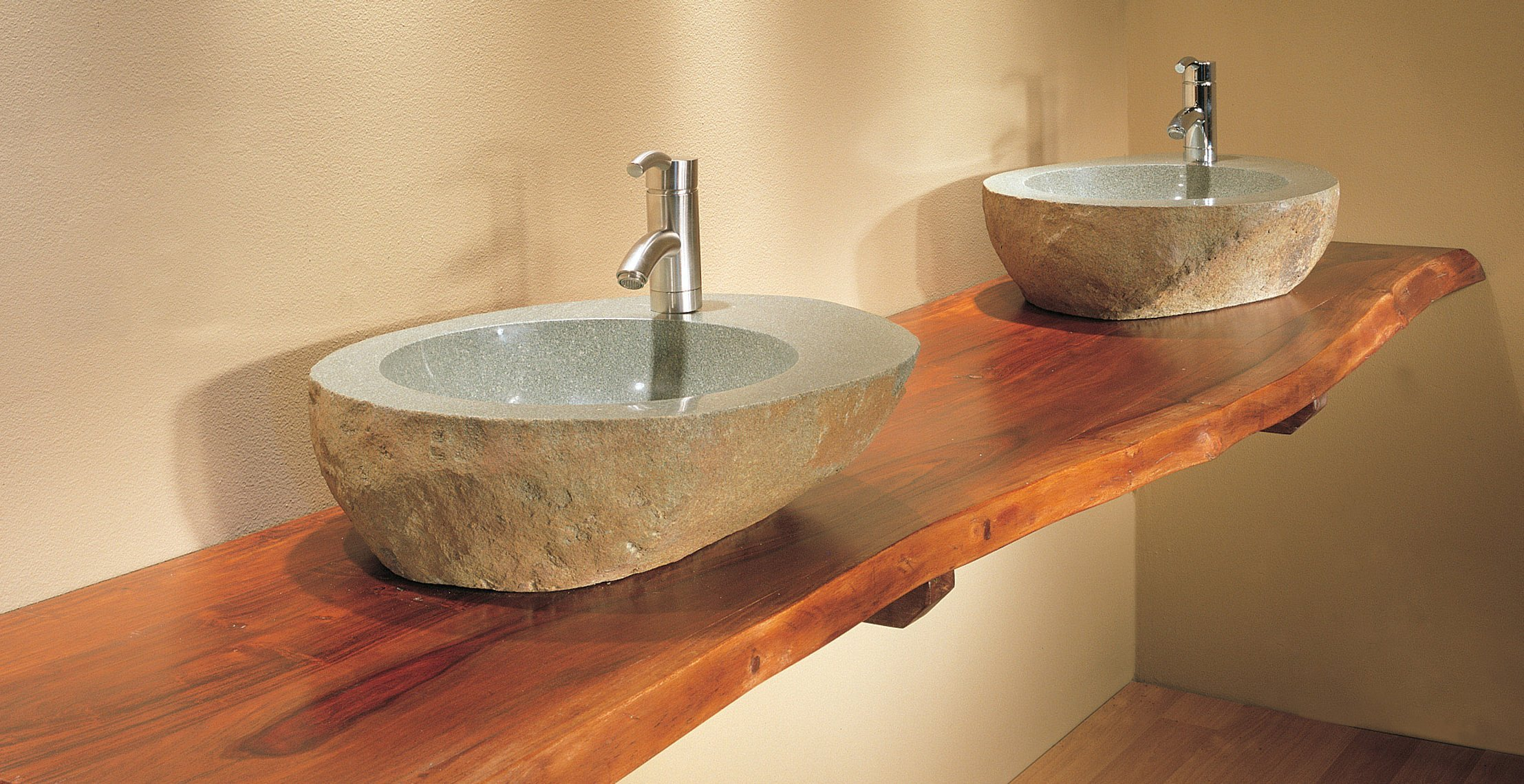 WOODSLABCStoneForestcrop DPDesign - Teak bathroom countertop