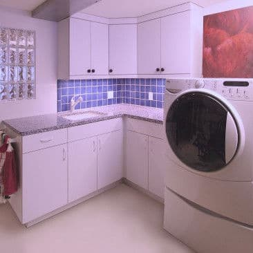 1950s Remodeled Basement Laundry Room