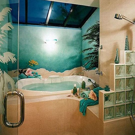 TROPICAL ISLAND RETREAT MASTER BATHROOM
