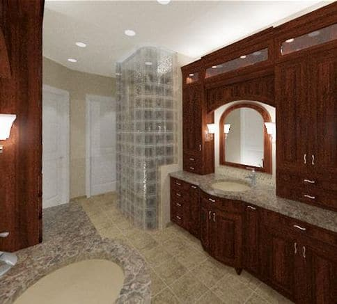 Testimonial for New Home Master Bathroom