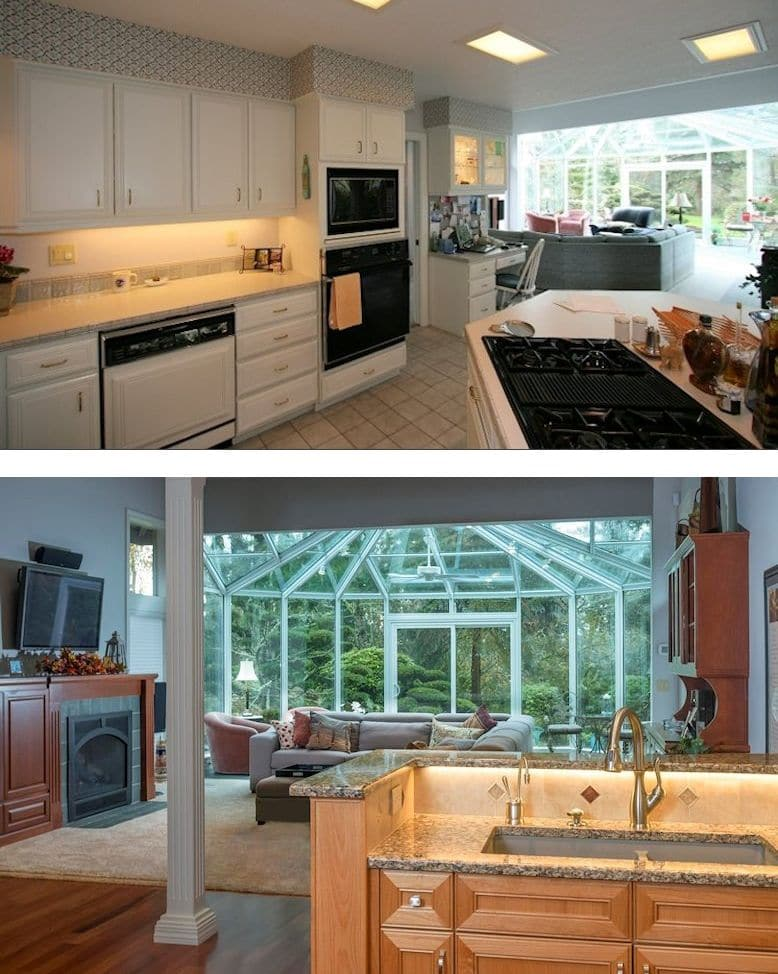 Vancouver kitchen successfully achieved with our process.