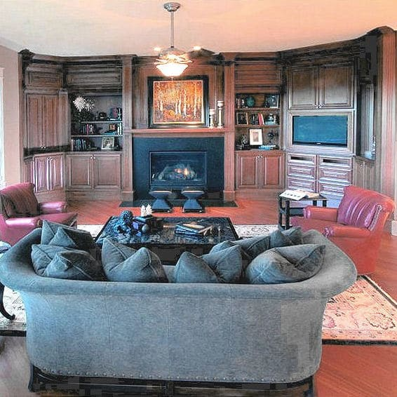 1980s Custom Home: Remodeled Family Room