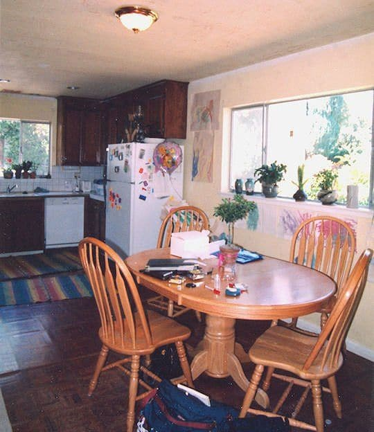 Before: Previous owners had lots of deferred maintenance and old appliances that motivated new owners to remodel the kitchen.