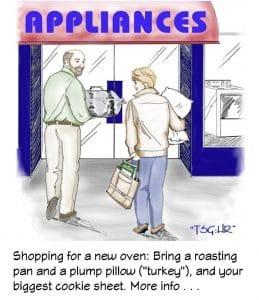 Buying appliances can be fun.