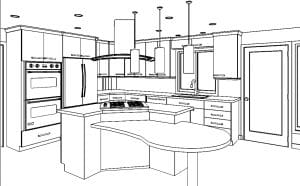 D-I-Y kitchen remodeling success is possible if you can see a virtual reality perspective.