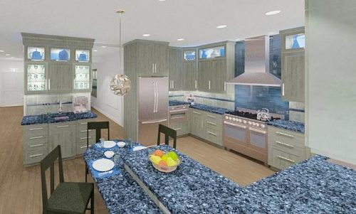 Kitchen with latest trends