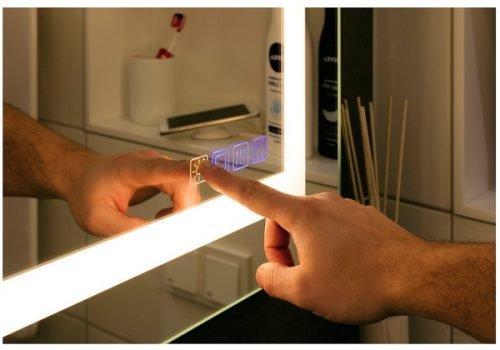 LED lighted bathroom mirror