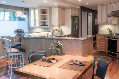 Remodeled Vancouver kitchen with LED lighting