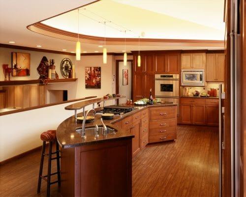 Award-winning kitchen and lower family room with many essential details
