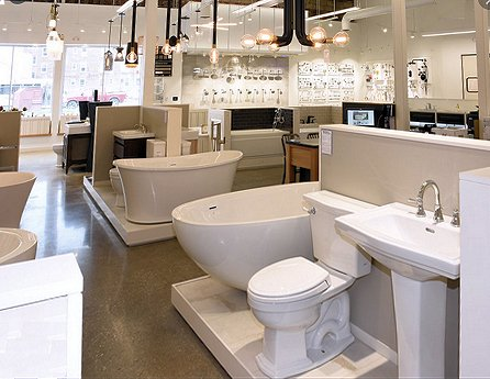 Visit a local plumbing showroom to see all of the options for your remodeled bathroom
