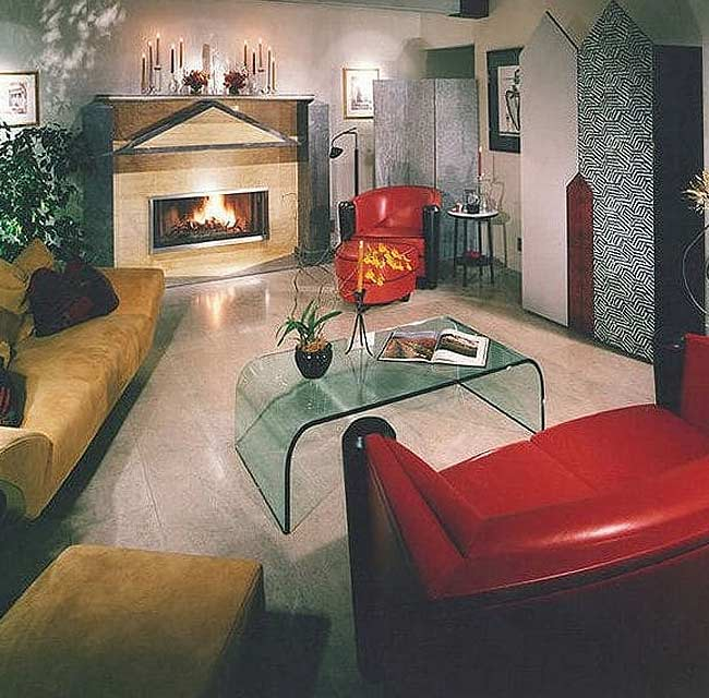 1970's Luxury Townhouse Remodeled Living Room