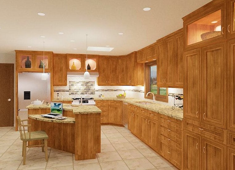 Kitchen and Basement (Bathroom and 3 Bedrooms)