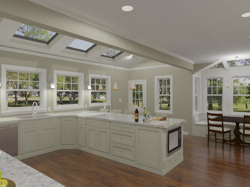 Kitchen and Master Bathroom