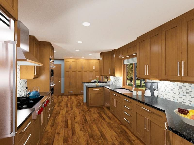 Kitchen and 2 Bathrooms
