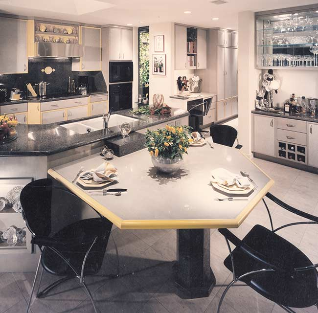 Townhouse Contemporary European Kitchen