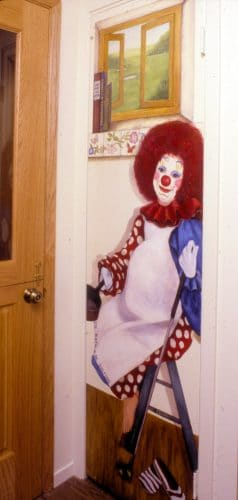 Carnival Kitchen Wife Clown Portrait