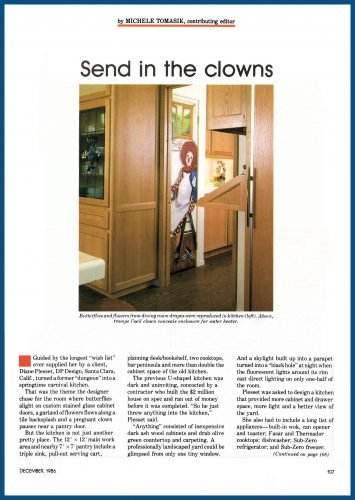 """Carnival"" kitchen in magazine article, Page 2"