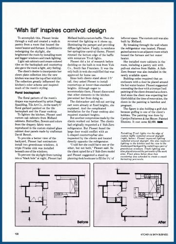 """""""Carnival"""" kitchen in Kitchen & Bath Business magazine article, Page 3"""