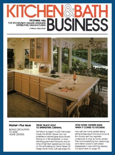 """Carnival"" kitchen on the cover of Kitchen & Bath Business magazine"