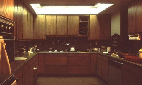 Springtime Carnival kitchen before remodeling