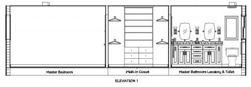 Bathroom Elevation 1
