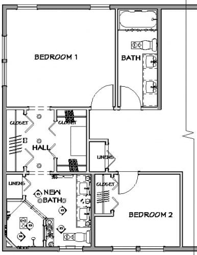 Proposed Bathroom Plan