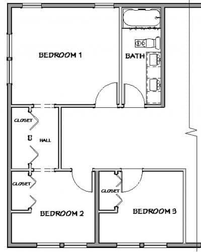 As-built Bathroom Plan