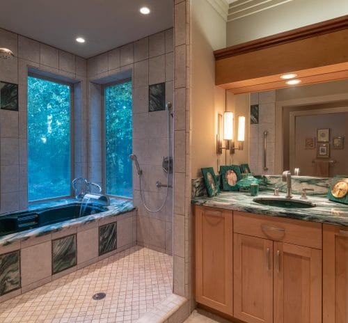 Oregon City Master Bathroom designed for safety and function
