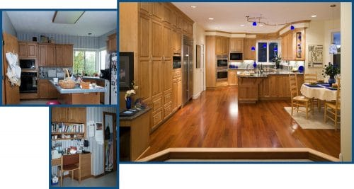 Tualatin multiple-cook family kitchen before and after