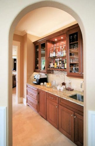 Remodeled West Linn Butler Pantry with best lighting