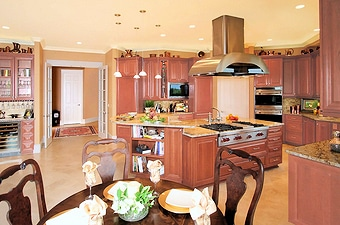 West Linn remodeled kitchen view 2 with the best lighting
